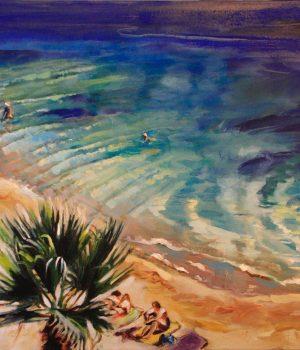 Azur I Acryl auf Leinwand I 70 x 100 cm I 2020