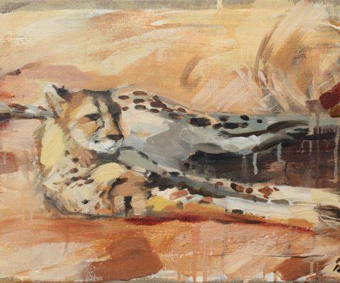Gepard I Mischtechnik auf Leinwand I 2012 I 60x40 cm (Preis auf Anfrage)