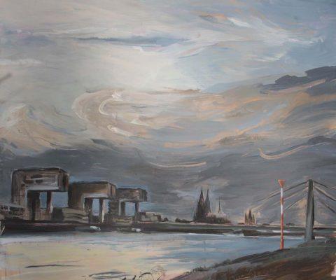 Gewitter I Acryl auf Leinwand I 100 x 100 cm I 2017 (Preis auf Anfrage)