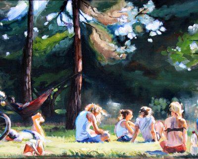 Letzter Sommertag 1 I Acryl auf Leinwand I 100 x 70 cm I 2016 (Preis auf Anfrage)