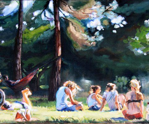 Letzter Sommertag 1 I Acryl auf Leinwand I 100 x 70 cm I 2016 (Privatbesitz)