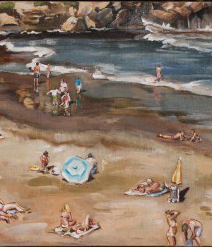 Strandtuch Inseln I Acryl auf Leinwand I 100 x 70 I 2019