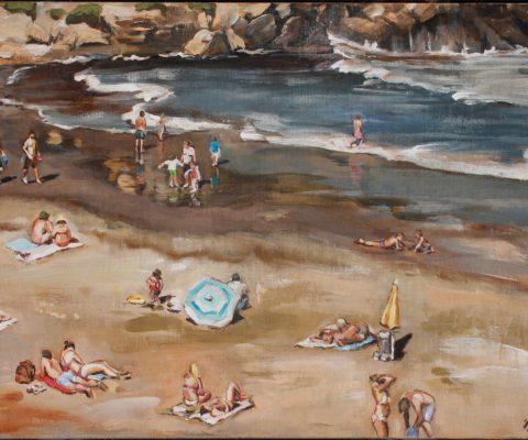 Strand I Acryl auf Leinwand I 100 x 70 I 2019