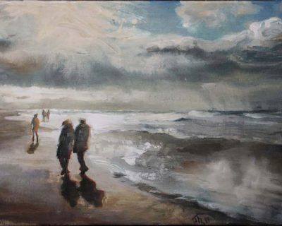 Strandspaziergang I Acryl auf Leinwand I 60 x 40 cm I 2017 (Preis auf Anfrage)