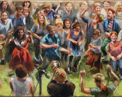 Tanzrausch I Acryl auf Leinwand I 60 x 40 cm I 2015 (Preis auf Anfrage)