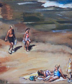 Wellenspiel I Acryl auf Leinwand I 40 x 60 cm I 2019