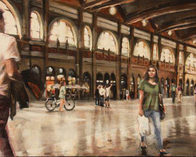 Bahnhof Zürich 4 I Acryl auf Leinwand I 100 x 70 cm I 2016 (Preis auf Anfrage)