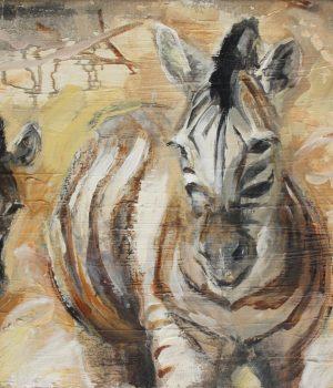 Zebras I Mischtechnik auf Leinwand I 2013 I 60x40 cm (Preis auf Anfrage)